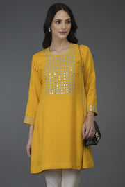 YELLOW MIRROR TUNIC TOP