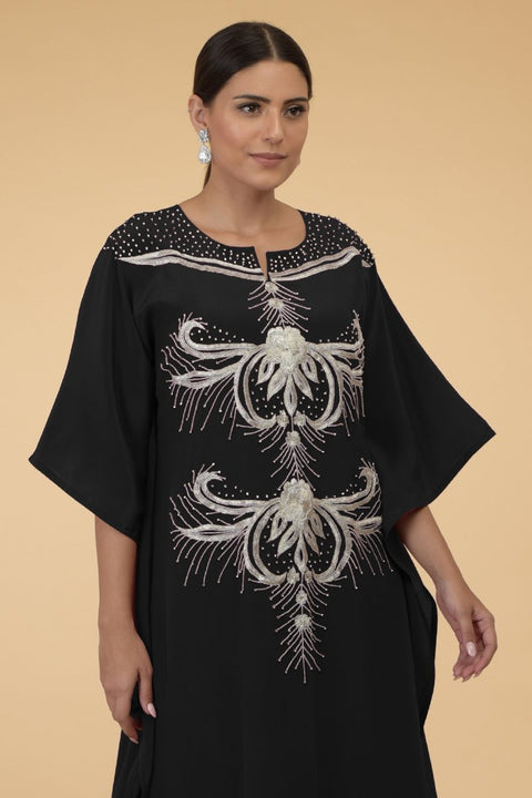 SILVER FERNS BLACK KAFTAN