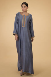 GREY ROSE KAFTAN