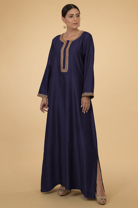 ECLIPSE BLUE GOLD KAFTAN
