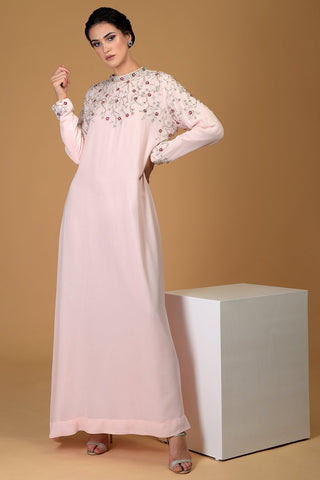 ELYSIAN GLOW CRYSTAL EMBROIDERED DRESS