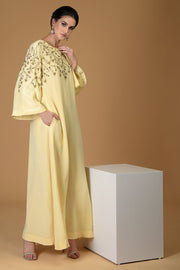 LEMON SPRIG BELL SLEEVE DRESS
