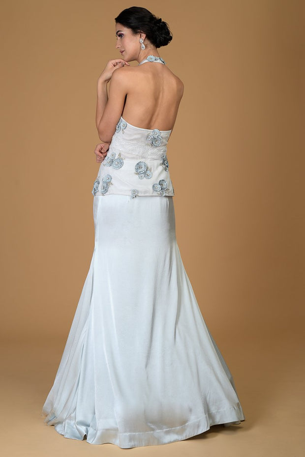 BLUE TWILIGHT CRYSTAL BRIDAL GOWN