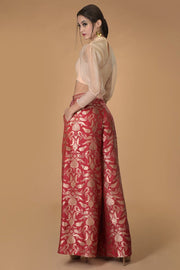 RED FLAKES DIVIDER SKIRT SET