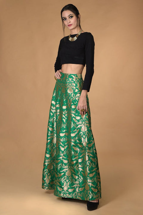ELEGANT SILK SKIRT SET
