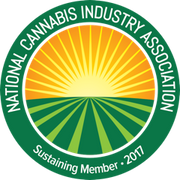 National Cannabis Industry Association (NCIA) logo and sustaining member seal