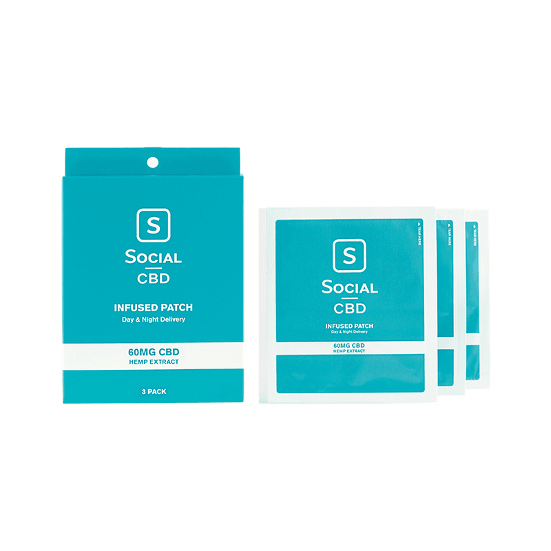 Social CBD Infused Patch - 60MG | 3 Pack