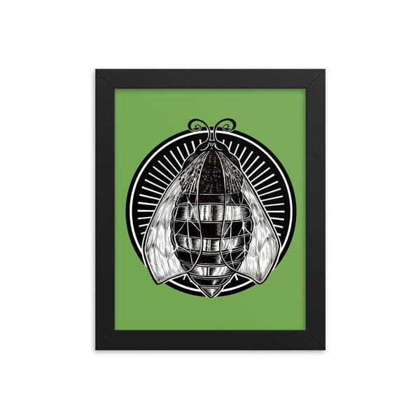 Hive Bee Framed Poster