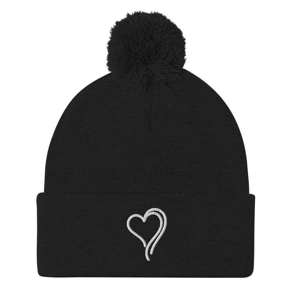 """Bee Love"" Pom-Pom Beanie - Green Bee Life"