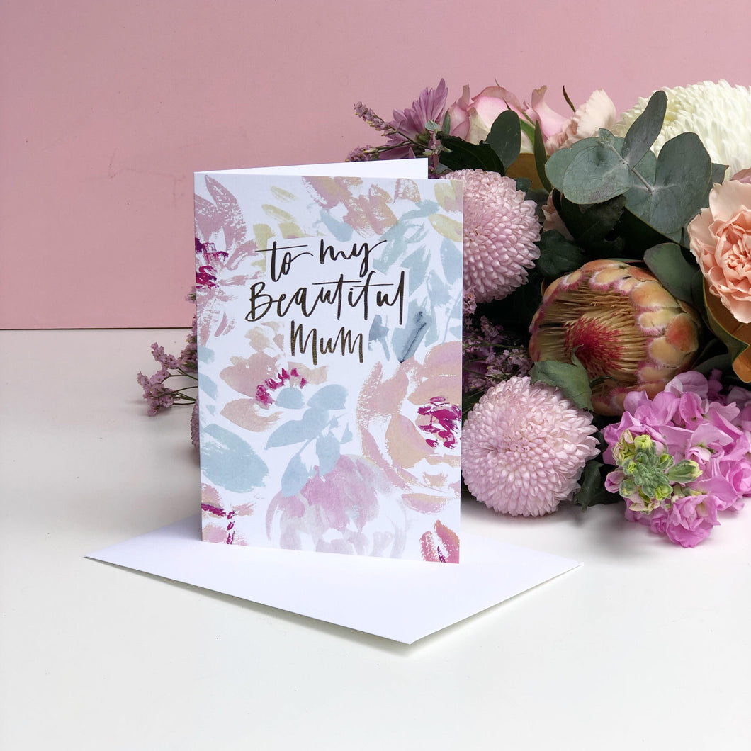 To my beautiful mum card