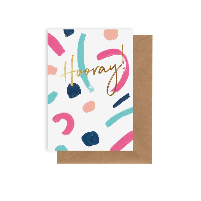 'Hooray its your birthday' greeting card