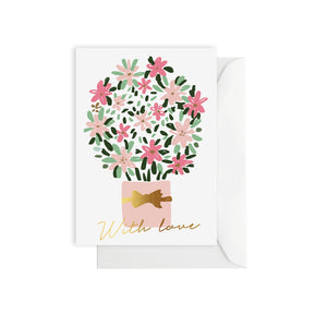 Flower bouquet - greeting card