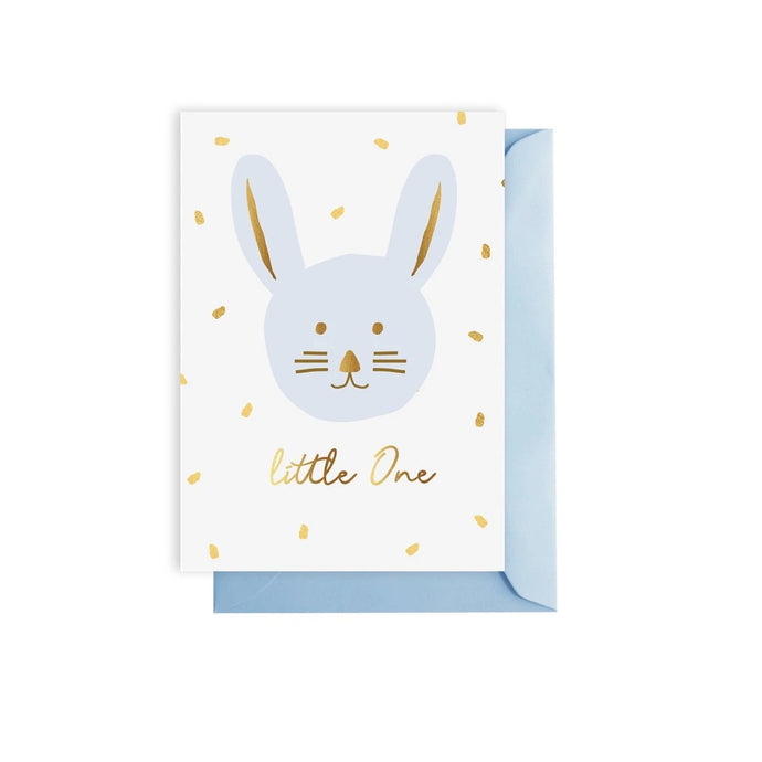 Blue 'Little One' Greeting Card