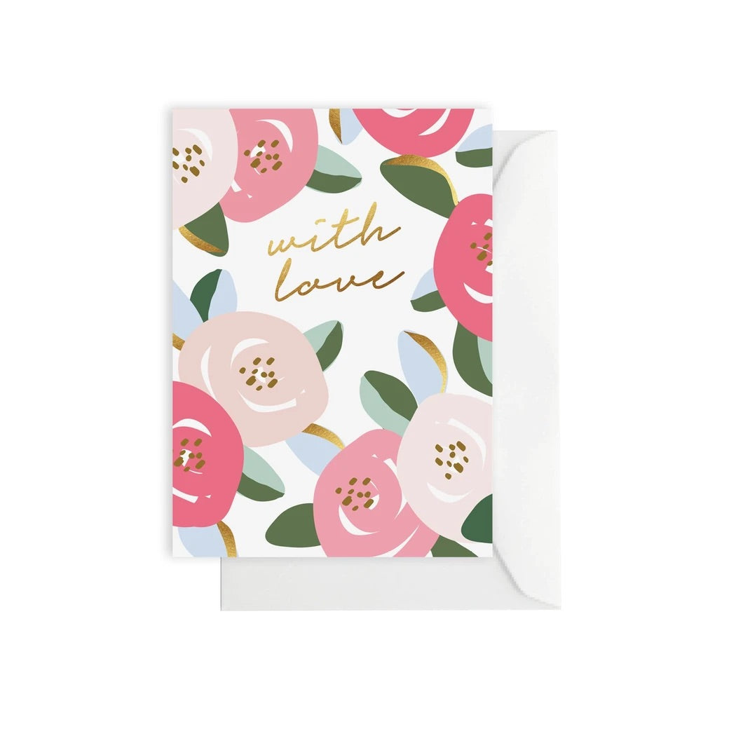 'With Love' Greeting Card