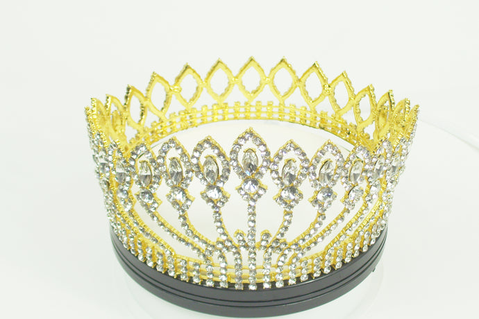 Fashion full crown-tiara with choice of stones