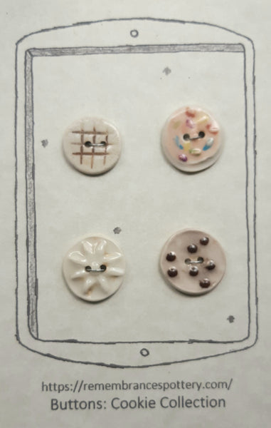 Cookie collection - buttons - set of 4