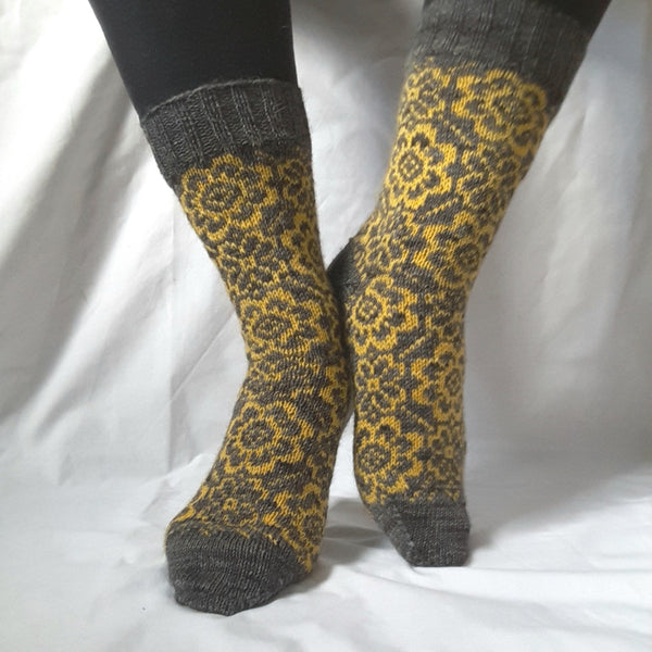 Pattern - Brigitte's Garden Socks Knitting Pattern - digital download