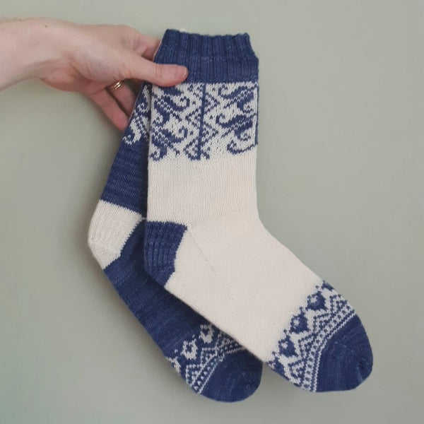Pattern - Charlotta the Fourth Socks Knitting Pattern - digital download