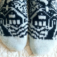 Pattern - Midnight Snow Socks Knitting Pattern - digital download
