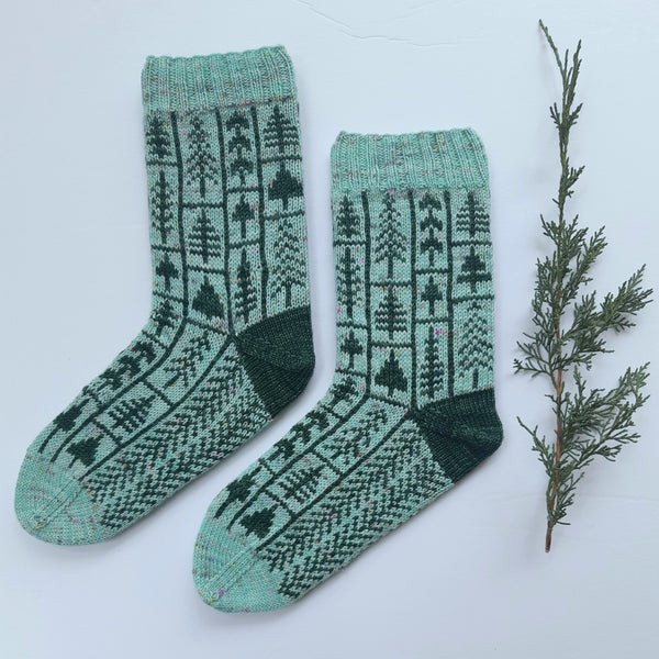 Pattern - Tree Farm Socks Knitting Pattern - digital download