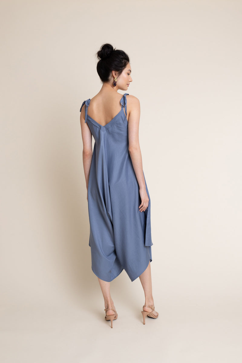 Ninetta Jumpsuit in Blue Sea