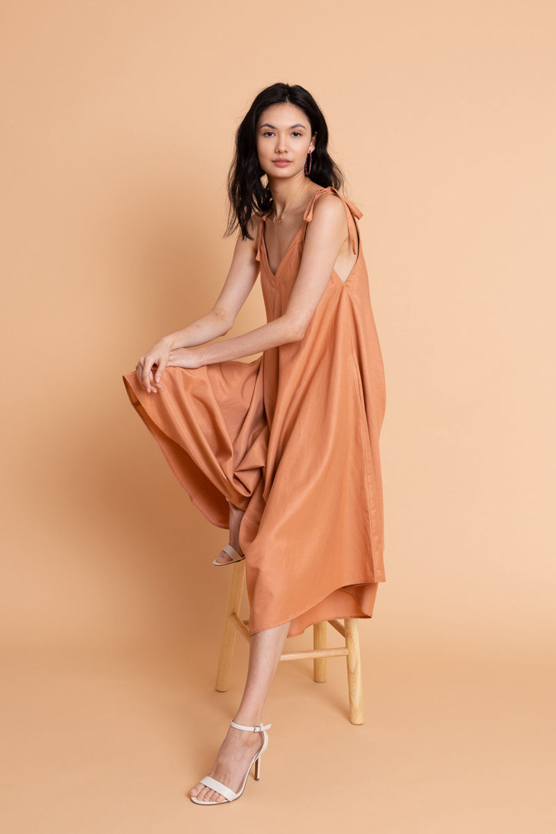Ninetta Jumpsuit in Terra Cotta