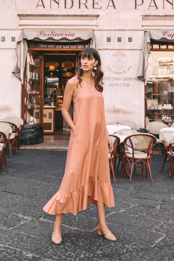Pia Dress in Terra Cotta