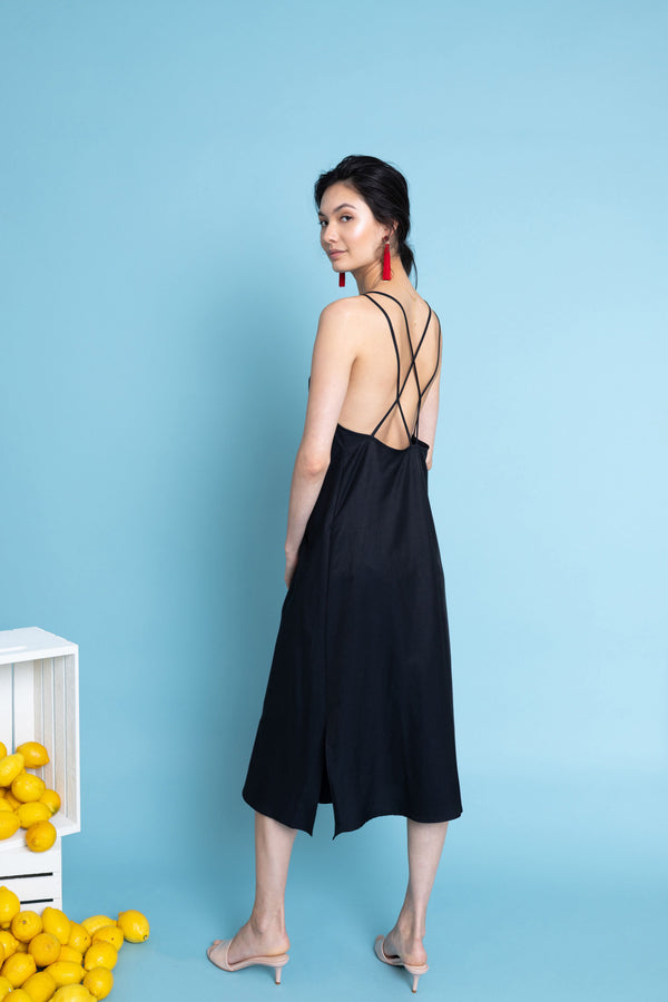 Sachi Dress in Midnight Blue