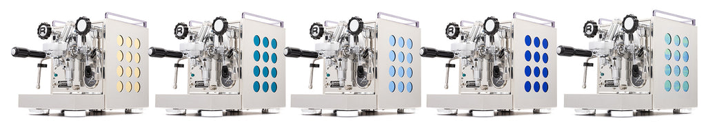 5 New colors for the Rocket Appartamento espresso machine.