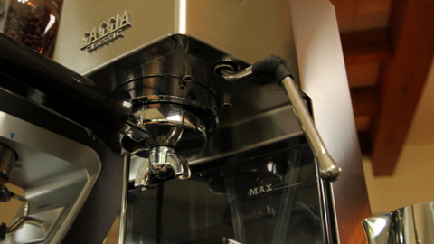 Gaggia Classic Pro commercial steam wand.