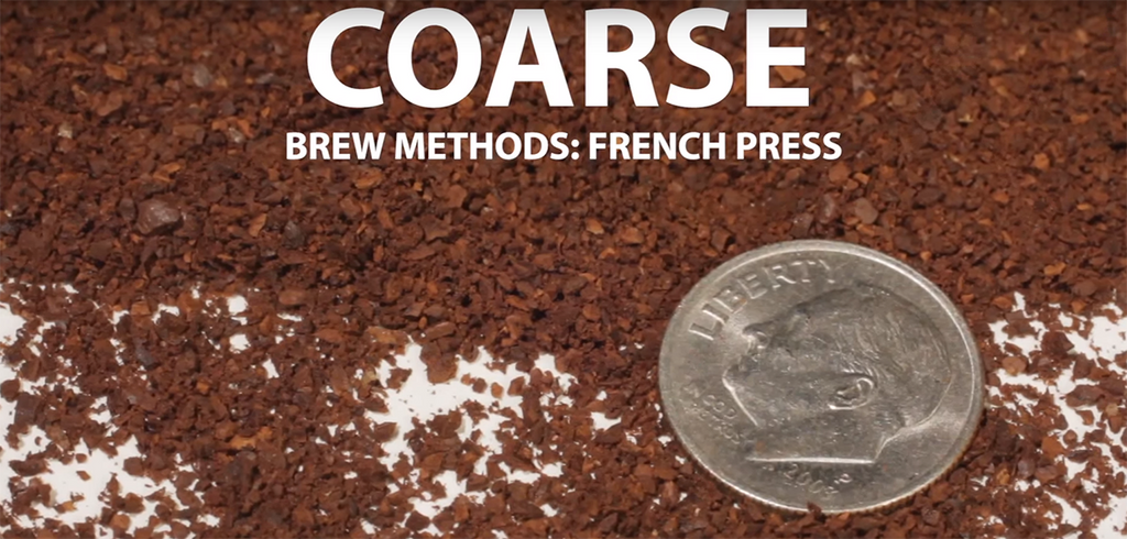 coarsely ground coffee