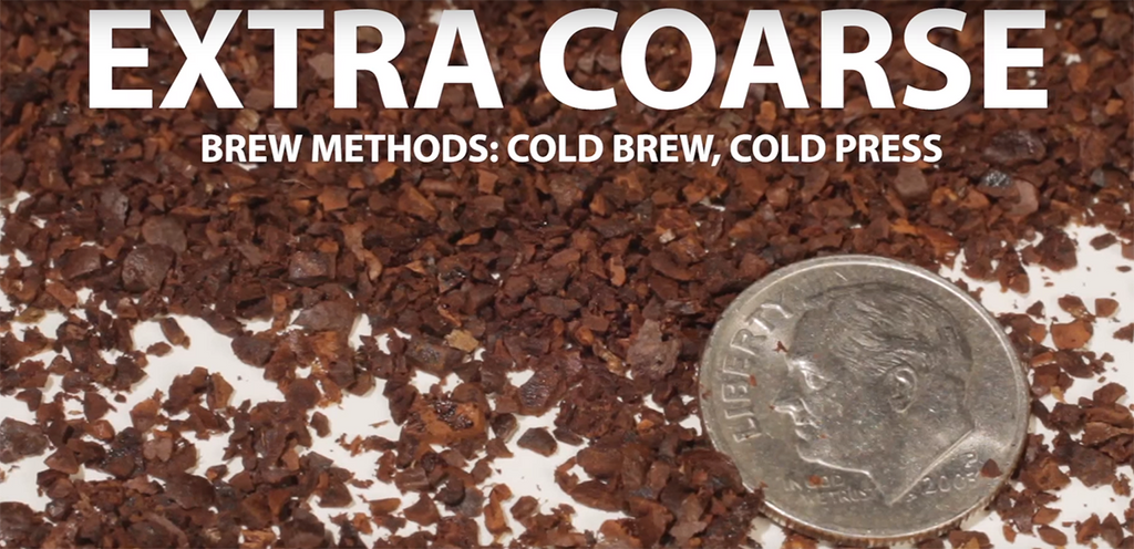 extra coarse coffee grounds