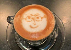Latte art face.