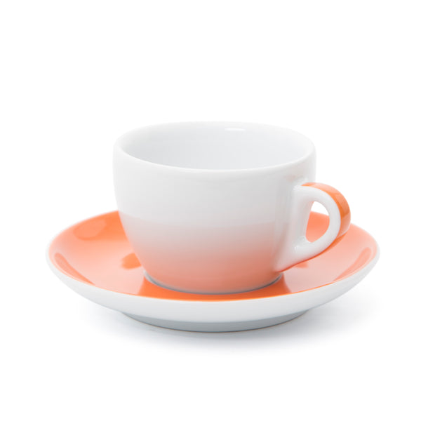 Ancap Verona 6.1oz Cappuccino Cup and Saucer in Orange