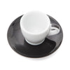 Ancap Verona 1.9oz Espresso Cup and Saucer in Black