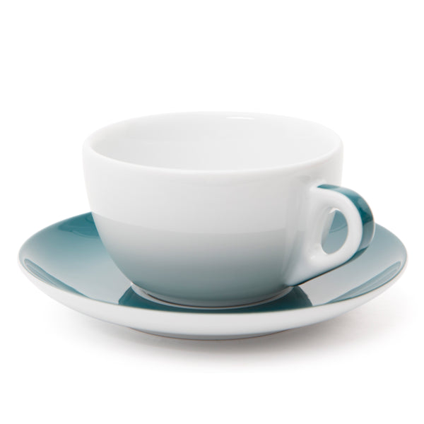 Ancap Verona 11.8oz Latte Cup and Saucer in Teal