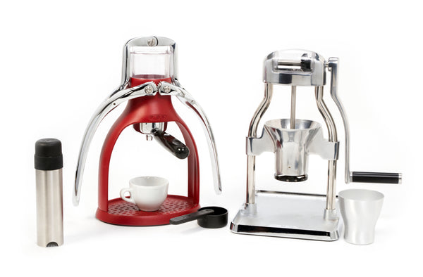 The Rok Espresso Maker Bundle In Berry Base