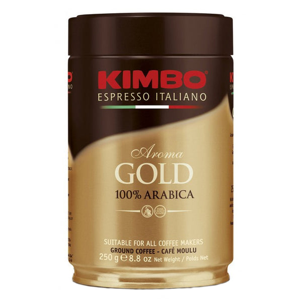 Kimbo Aroma Gold 100% Arabica 250g Ground Tin Base