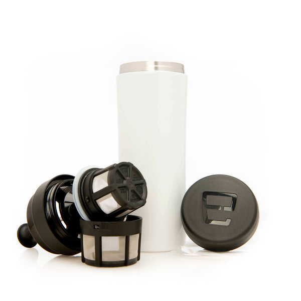 Espro Travel Press For Coffee In White