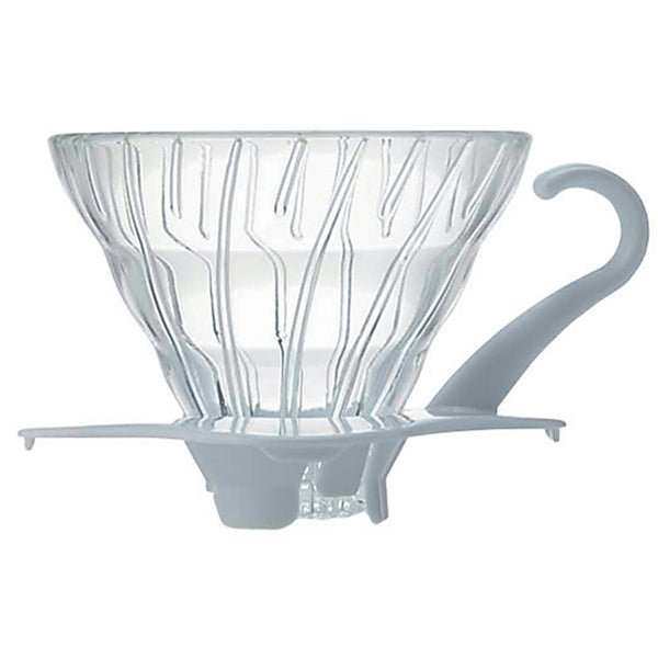 Hario V60 02 White Glass Coffee Dripper Base