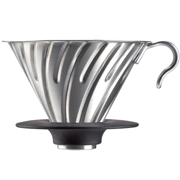 Hario V60 02 Metal Coffee Dripper Silver Base