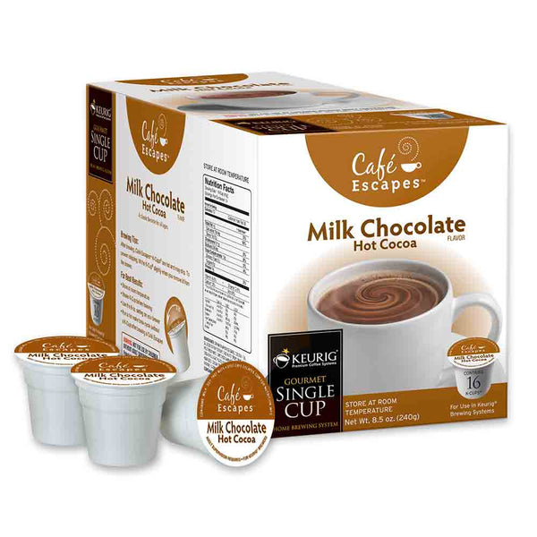 Café Escapes Milk Chocolate Hot Cocoa K Cup® Packs Base