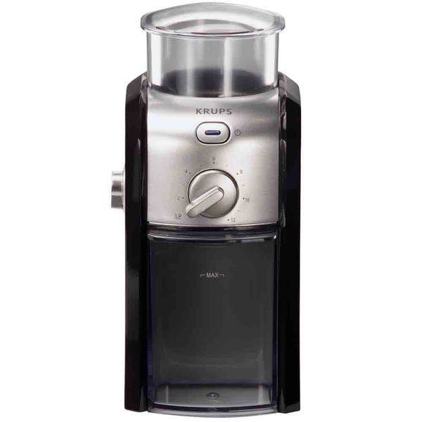 Krups Gvx212 Black And Stainless Steel Burr Coffee Grinder Base