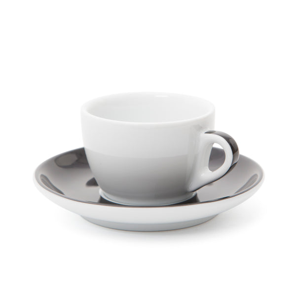 Ancap Verona 5.1oz Cappuccino Cup and Saucer in Black