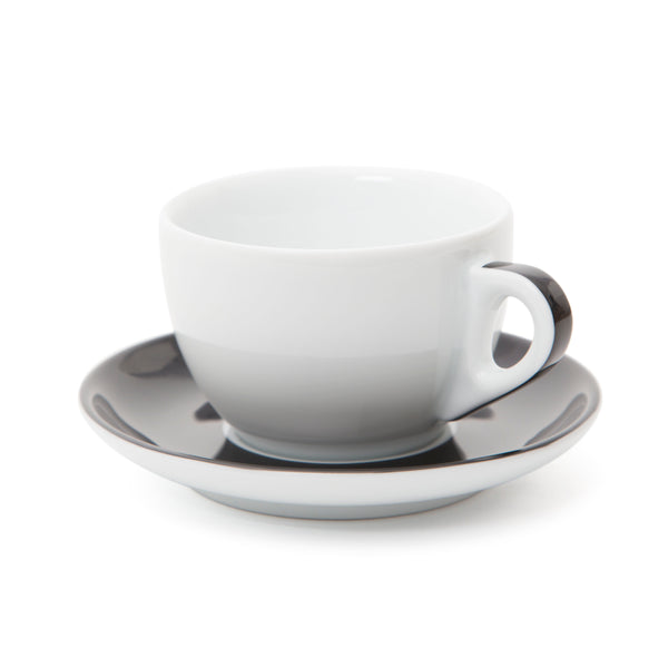 Ancap Verona 8.8oz Cappuccino Cup and Saucer in Black