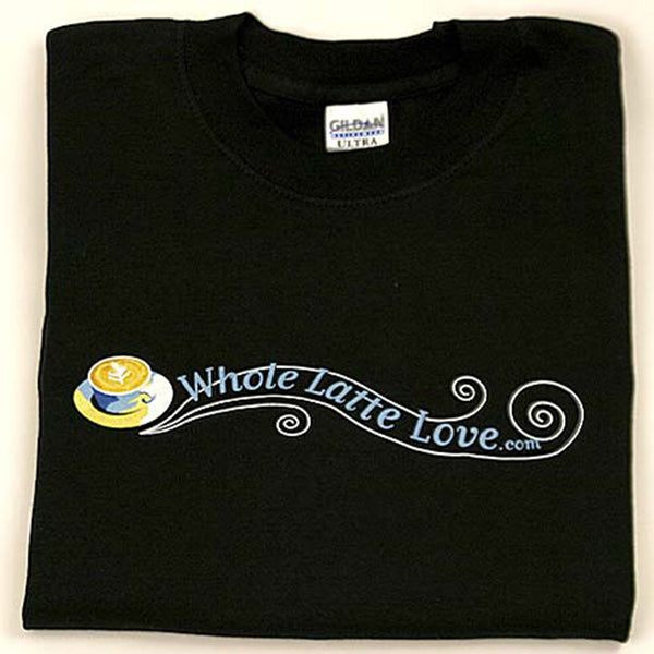 Whole Latte Love 100% Cotton T-Shirts Black Medium
