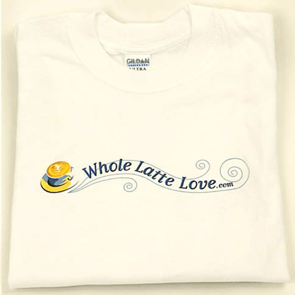 Whole Latte Love 100% Cotton T-Shirts White Medium