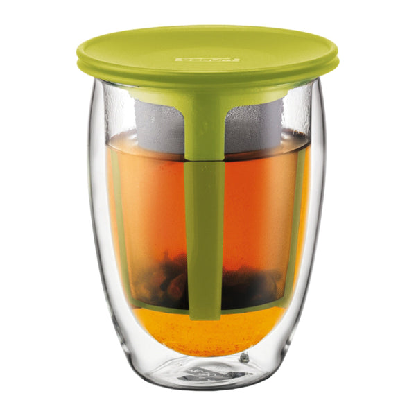 Bodum 12oz Tea for One with strainer Lime