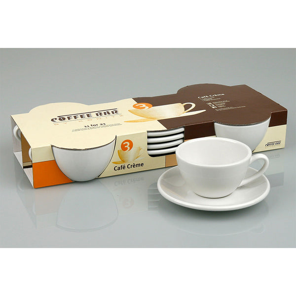 Konitz Set Of Four 7oz Cappuccino Cups & Saucers Base