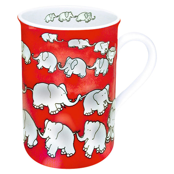 Waechtersbach Chain of Elephants 19oz Mega Mug in Red